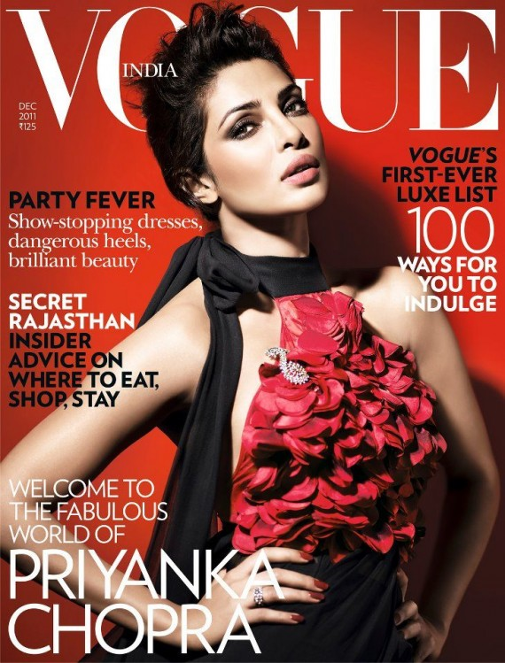 Priyanka Chopra for Vogue Cover page India December 2011