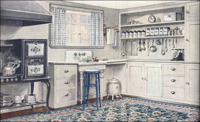 Vintage 1920s kitchen