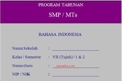 Download Bahasa Indonesia RPP, Silabus, Prota, Promes, KKM Kelas VII/ 7 SMP MTs K13 Revisi 2017
