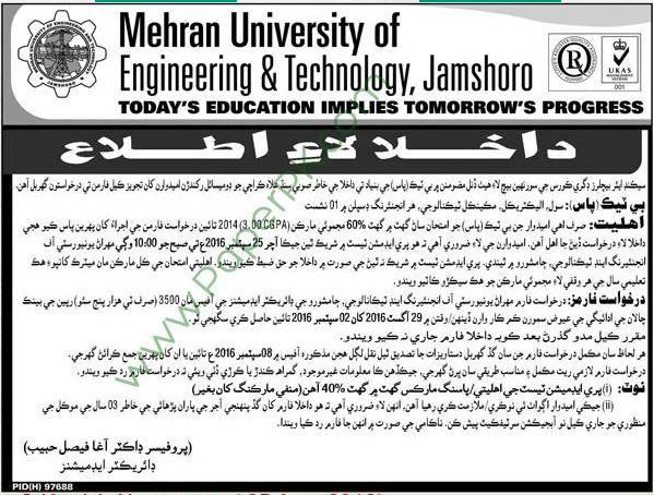 Mehran University Of Engineering & Technology Jamshoro