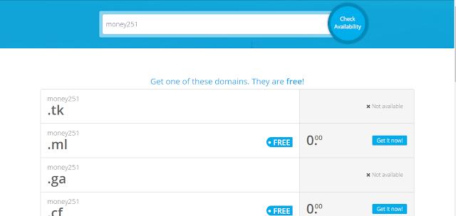 registering domain on freenom
