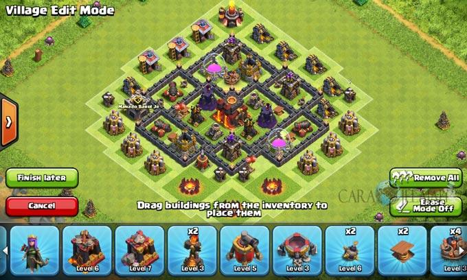 pertahanan terbaik untuk base war th 6 di clash of clans 27