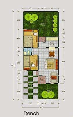 Desain 3D Rumah Minimalis Type 21 Dengan Tampilan Modern 1