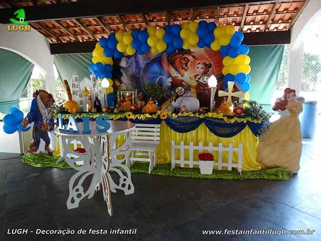 Decoração infantil A Bela e a Fera - Decoração para festa de aniversário feminino