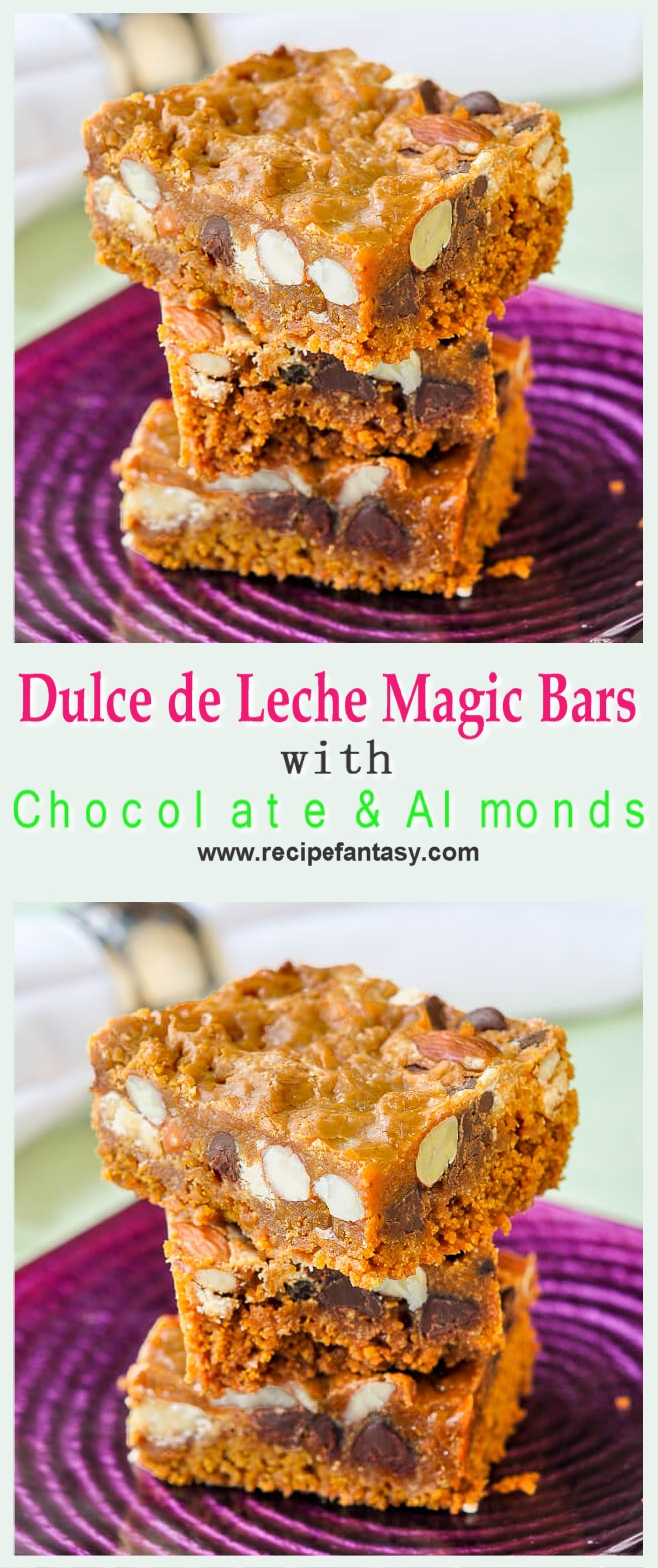 Dulce de Leche Magic Bars with Chocolate & Almonds
