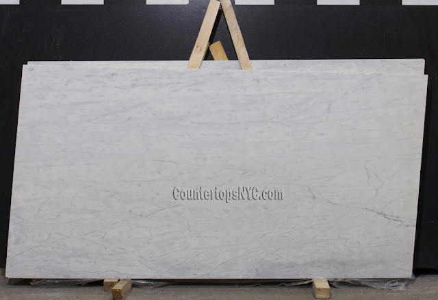 White Carrara Marble Slabs For Countertops NYC