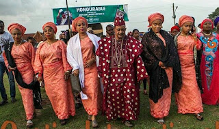 Alaafin Of Oyo Steps Out With Numerous Wives 5