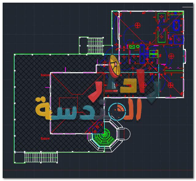 تحميل ملف أوتوكاد لــ مشروع فيلا منارة صفح Dwg