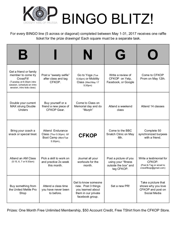 Crossfit Kop Bingo Blitz