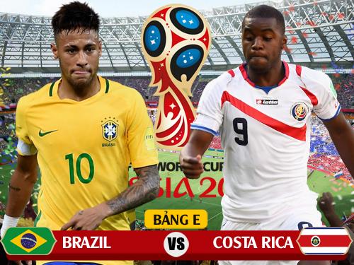 Xem trực tiếp Brazil vs Costa Rica trên kênh nào của VTV?