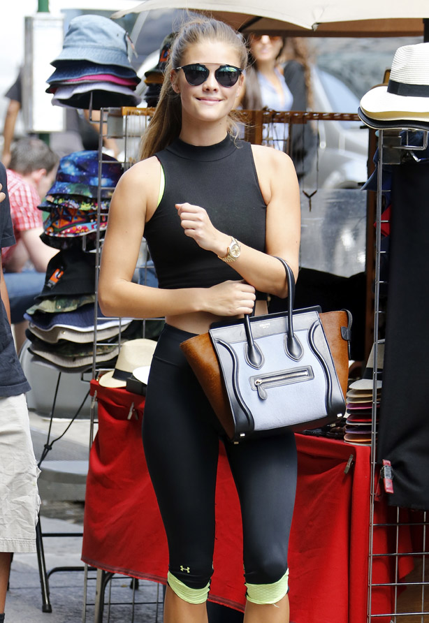 Nina Agdal Heading to the gym