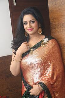 Udaya Bhanu lookssizzling in a Saree Choli at Gautam Nanda music launchi ~ Exclusive Celebrities Galleries 074.JPG