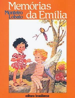 memórias da emília - monteiro lobato - editora brasiliense - sítio do picapau amarelo - manoel victor filho - jacob levitinas - década de 1990 - década de 2000 - capa de livro - bookcover