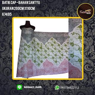batik cap - bahan santyu - ukuran 200cm x 110cm