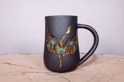 Dragon Handmade Coffee Pottery Cup