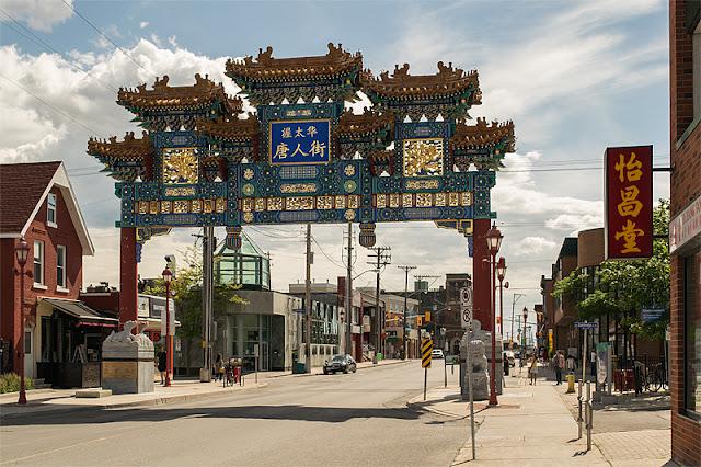 La porte symbolisant l'entrée du quartier chinois à Ottawa