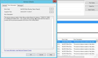 routing failure report error message
