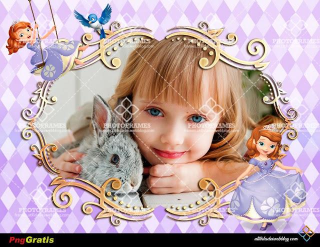 Bello marco para fotos infantiles de la Princesa Sofia