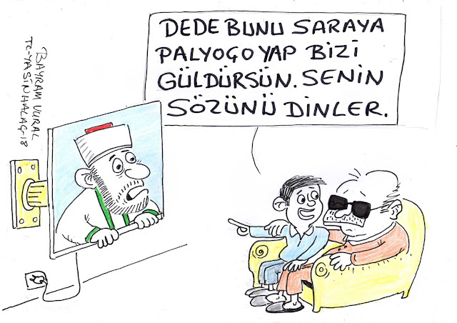 saraya palyaço karikatür