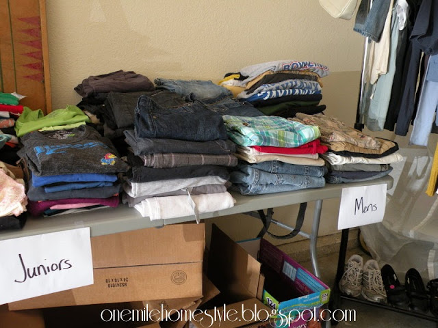 Garage Sale Organization & Tips - Organizing Adult Clothes
