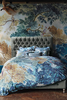 Anthropologie favorites bedroom furniture beds and for Anthropologie mural wallpaper