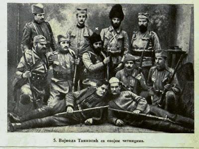 Voivoda Tankosic with his Komitadjis.