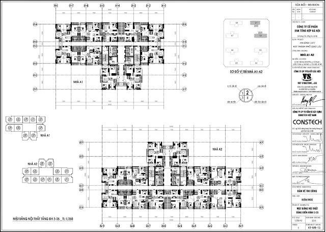 Mặt bằng tòa A1 A2 - An Bình City