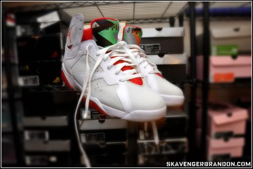 designer fashion edfb8 05667 The Air Jordan 7 (VII) Retro – Hare Jordan (Countdown Package 7 / 16) were  released on June 21, 2008, and alongside the Air Jordan 16 (XVI) Retro ...