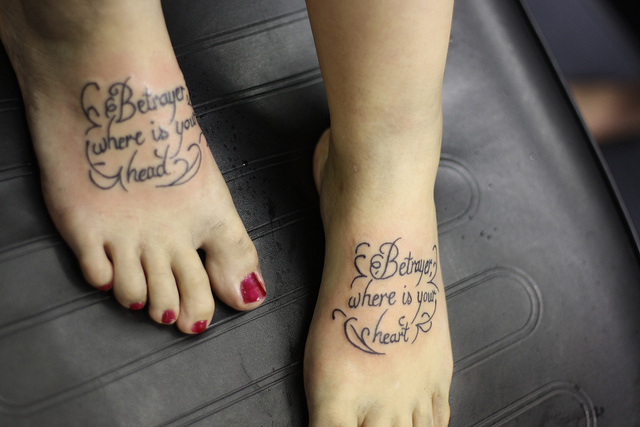 tattoo quotes for girls on foot - photo #8