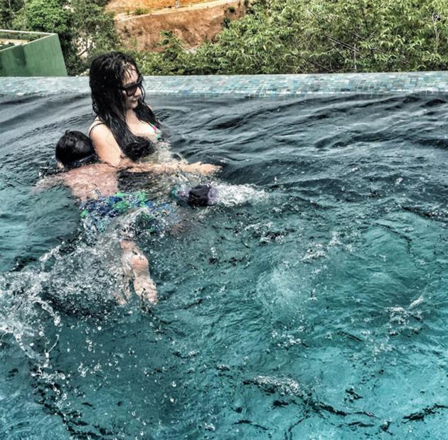 Manyata Dutt In Swim Wear Photos