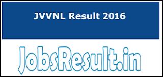 JVVNL Result 2016