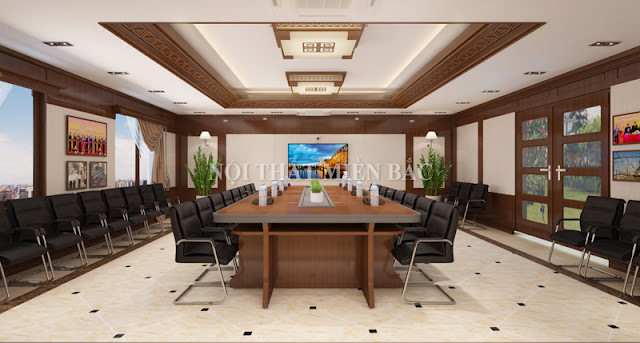 Thiết kế nội thất phòng họp đẹp được lựa chọn sử dụng và trang trí trong phòng họp  cần được chọn lọc tỉ mỉ và phải tương ứng với chức năng cần thiết