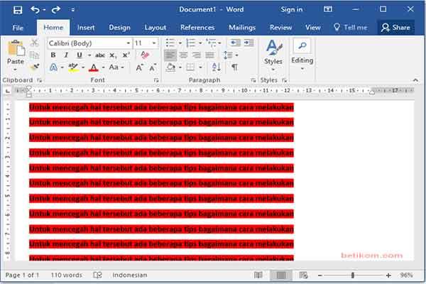 Mengcopy tulisan dari web ke microsoft word hancur berantakan