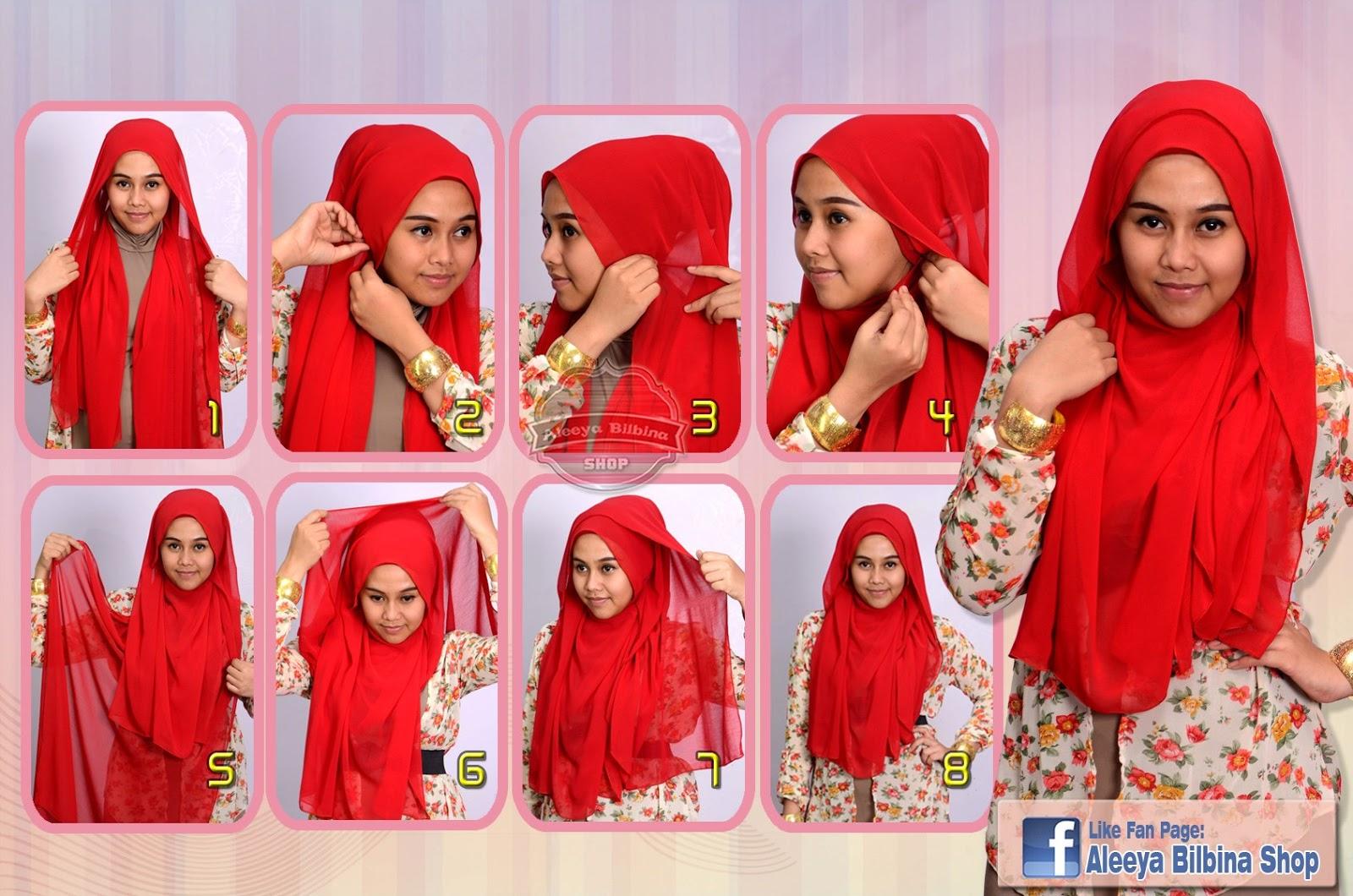 89 Gambar Terbaru Tutorial Hijab Paris Fatin Shidqia Paling Baru