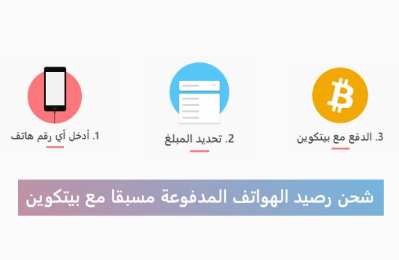 شحن رصيد الهاتف عن طريق البيتكوين لكل الدول العربية رائع !