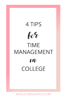 4 Tips for Time Management in College