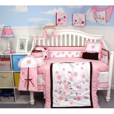 The Dragonflies Garden Baby Crib Bedding Set Comes With These 10 Pieces Comforter Dust Ruffle Ed Sheet Per Padding Bib