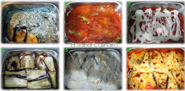 como hacer la lasaña de berenjenas con espinacas y requesón (sin pasta)