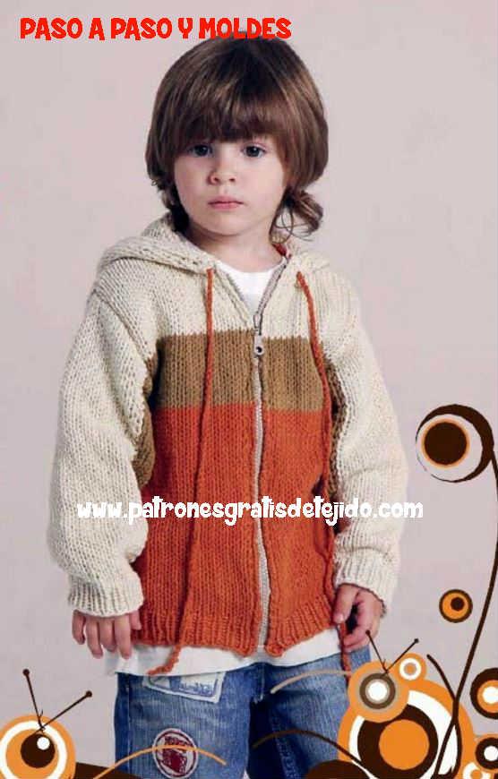 campera con capucha para niño