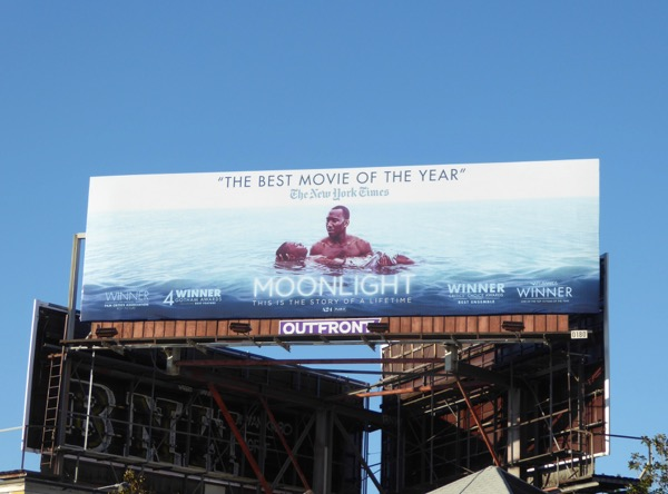Moonlight movie billboard