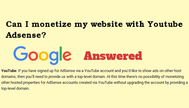 Monetize Website Blog with Youtube Adsense