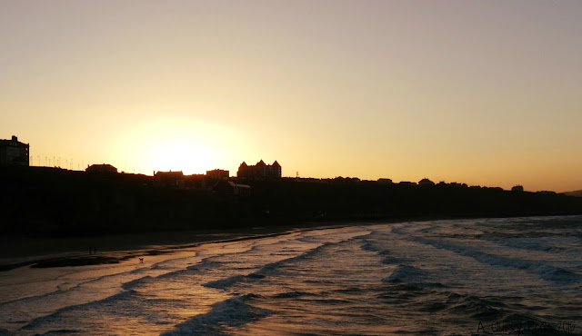 Whitby at sunset