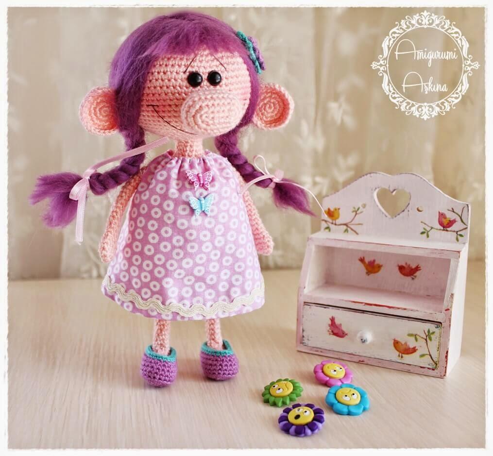 Amigurumi Koca Burunlu Minik Kız- Amigurumi Little Doll