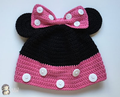 Gorro Minnie Mouse a crochet