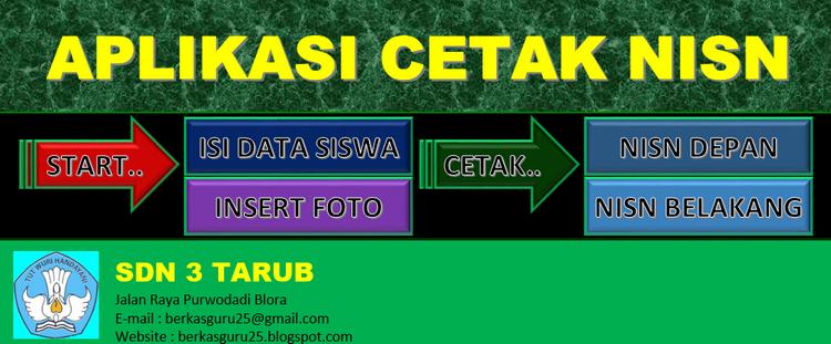 Aplikasi Cetak Kartu NISN Excel I Berkasguru25 - BERKAS ...