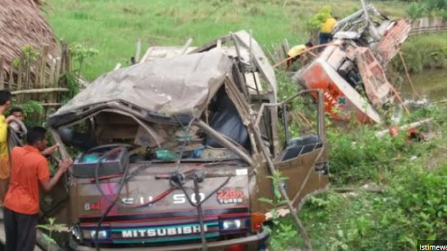 Kecelakaan di Alafan Simeulue karena Rem Blong