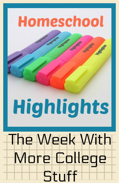 Homeschool Highlights - The Week With More College Stuff on Homeschool Coffee Break @ kympossibleblog.blogspot.com