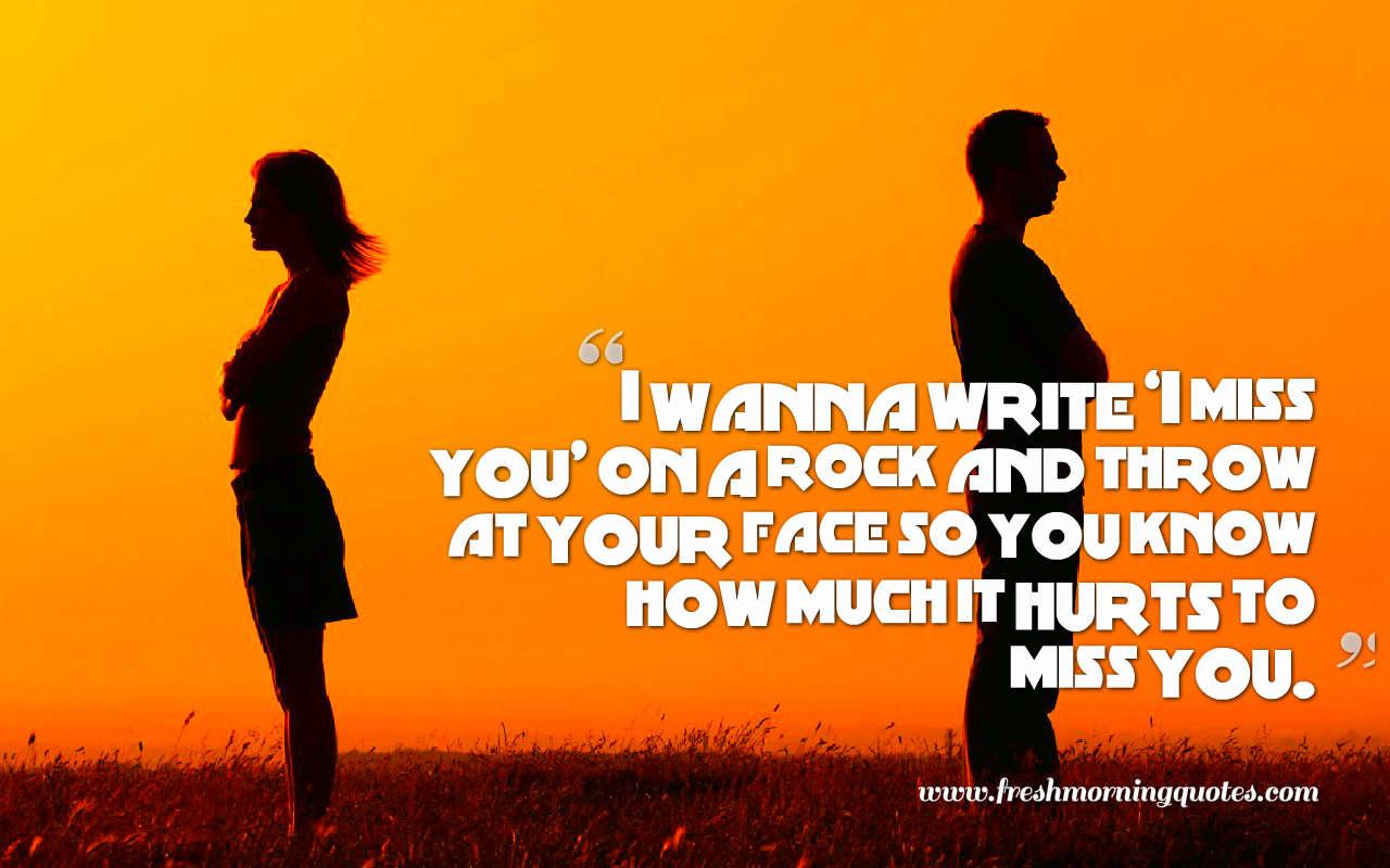 i wanna write i miss you quotes image