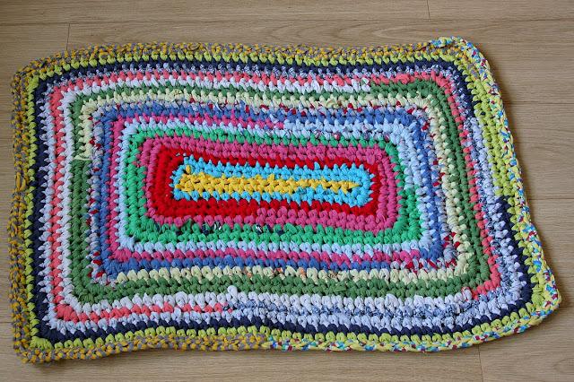 бабушкин коврик, коврик из футболок