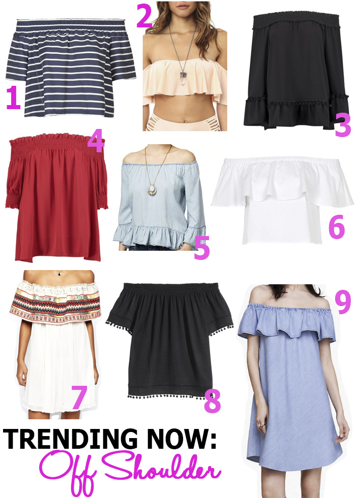trend alert off shoulder tops